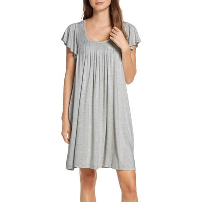 Papinelle Flutter Sleeve Nightgown, Grey