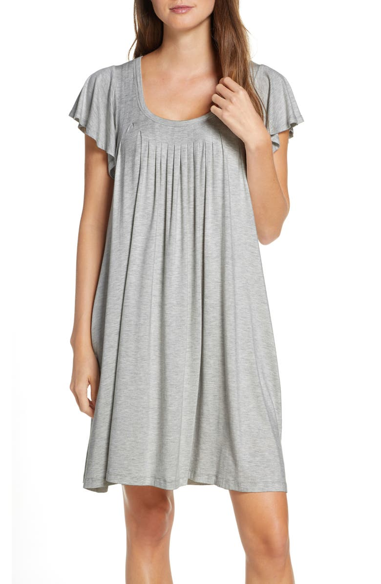 PAPINELLE Flutter Sleeve Nightgown, Main, color, 020