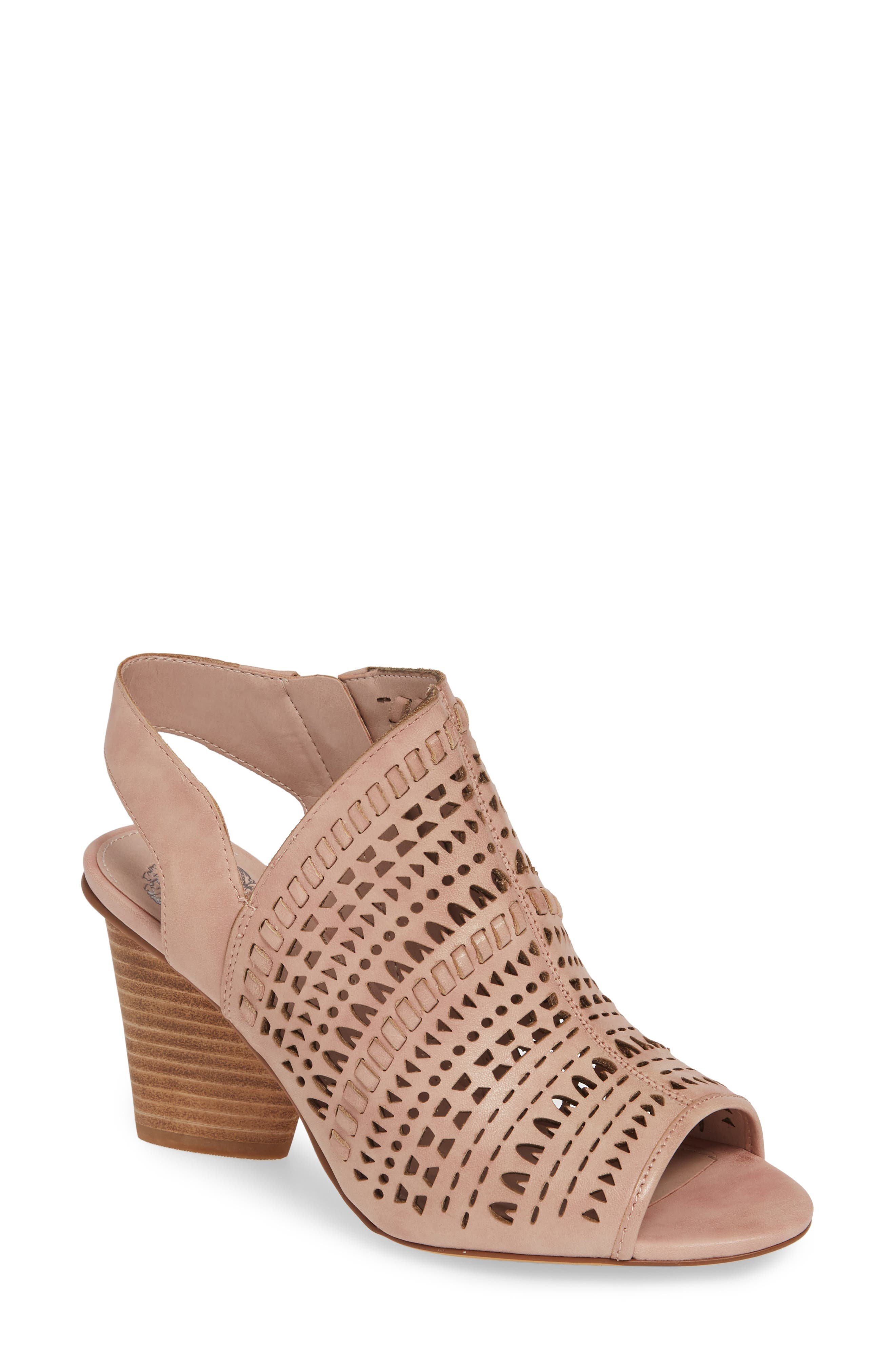 Vince Camuto Derechie Perforated Shield Sandal, Pink