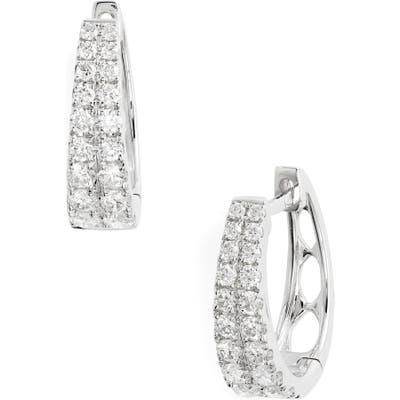 Bony Levy Double Row Diamond Hoop Earrings (Nordstrom Exclusive)
