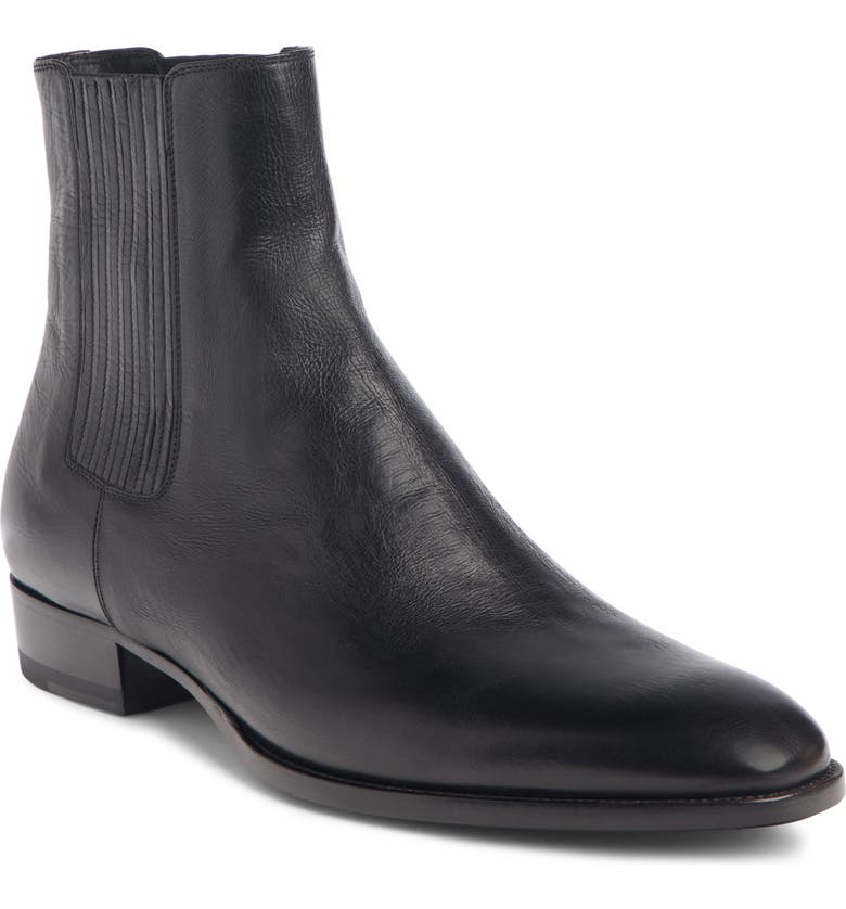 SAINT LAURENT Wyatt Chelsea Boot, Main, color, NERO/ NERO