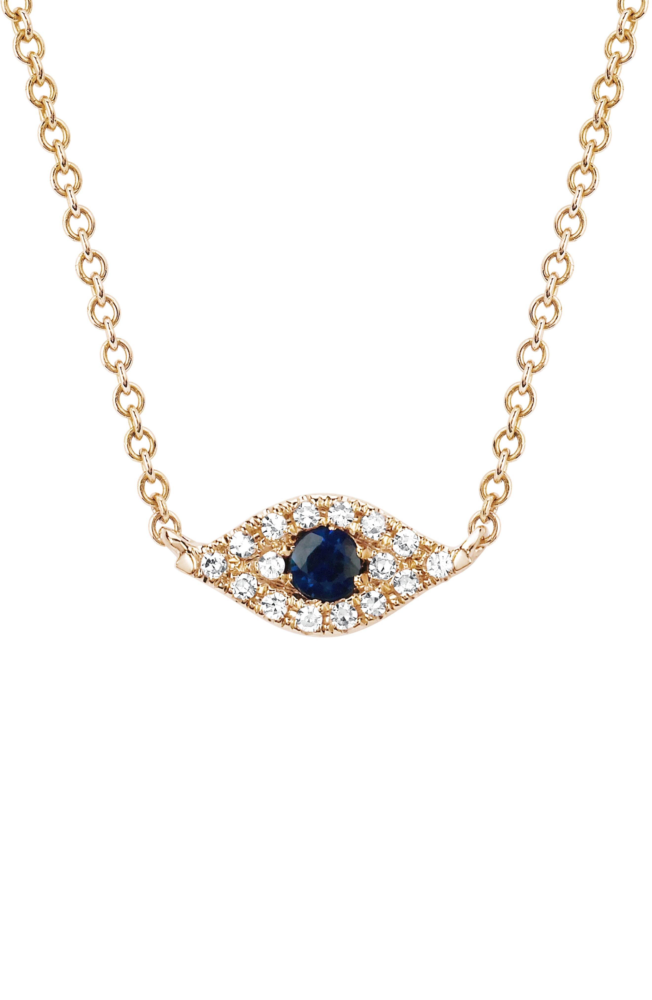Evil Eye Diamond & Sapphire Choker Necklace