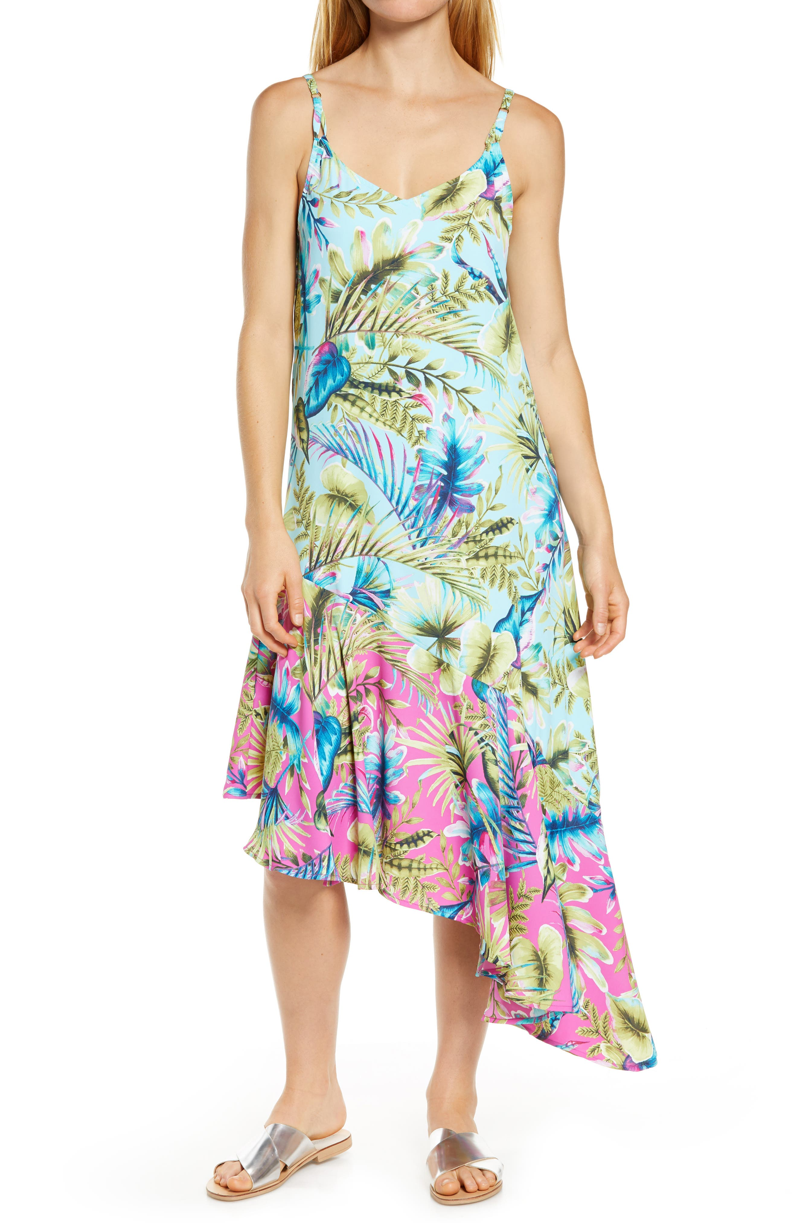 Image of Tommy Bahama Sunkissed Asymmetrical Cover-Up Dress