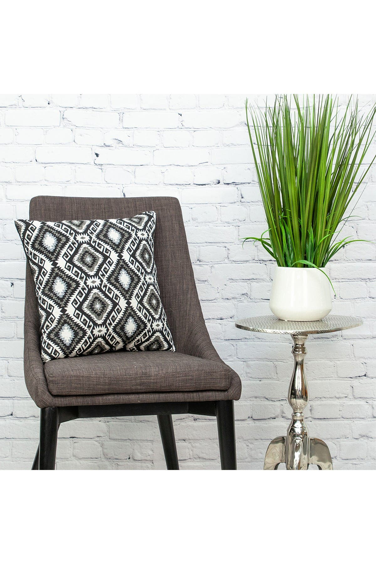 Image of Parkland Collection Habib Transitional Black Throw Pillow