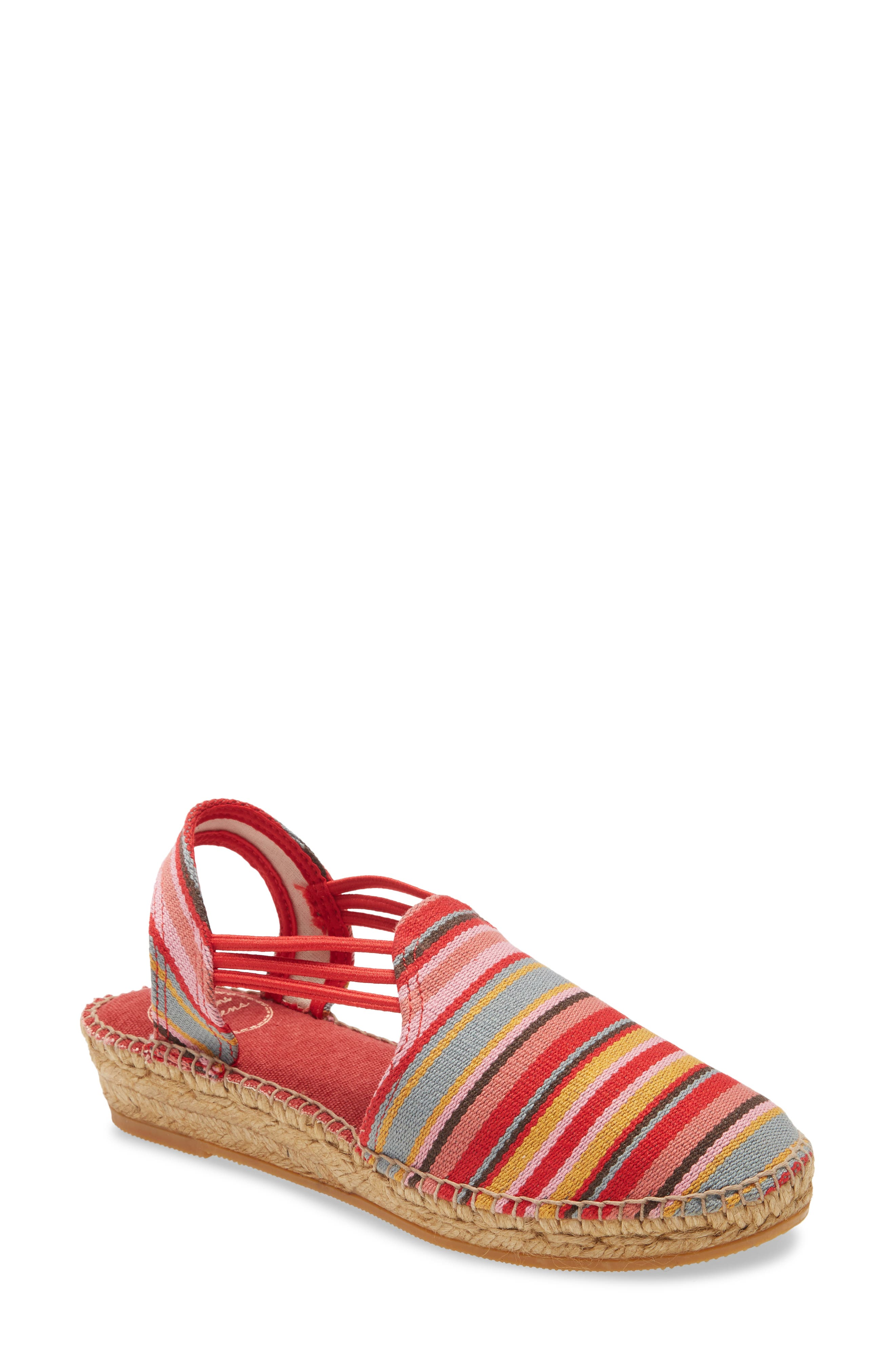 Get back to the basics in this handcrafted slingback espadrille outfitted with a cushioned footbed and elastic straps for a snug fit. Style Name: Toni Pons Norma Wedge Espadrille Sandal (Women). Style Number: 6134929. Available in stores.