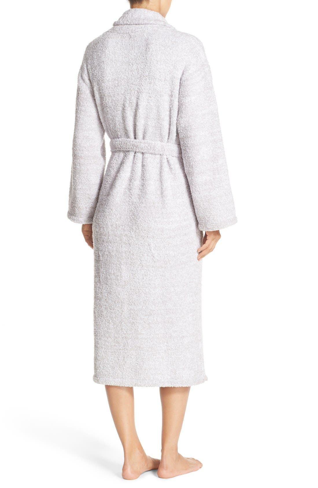 ,                             CozyChic<sup>®</sup> Robe,                             Alternate thumbnail 4, color,                             LIGHT GRAY/ WHITE