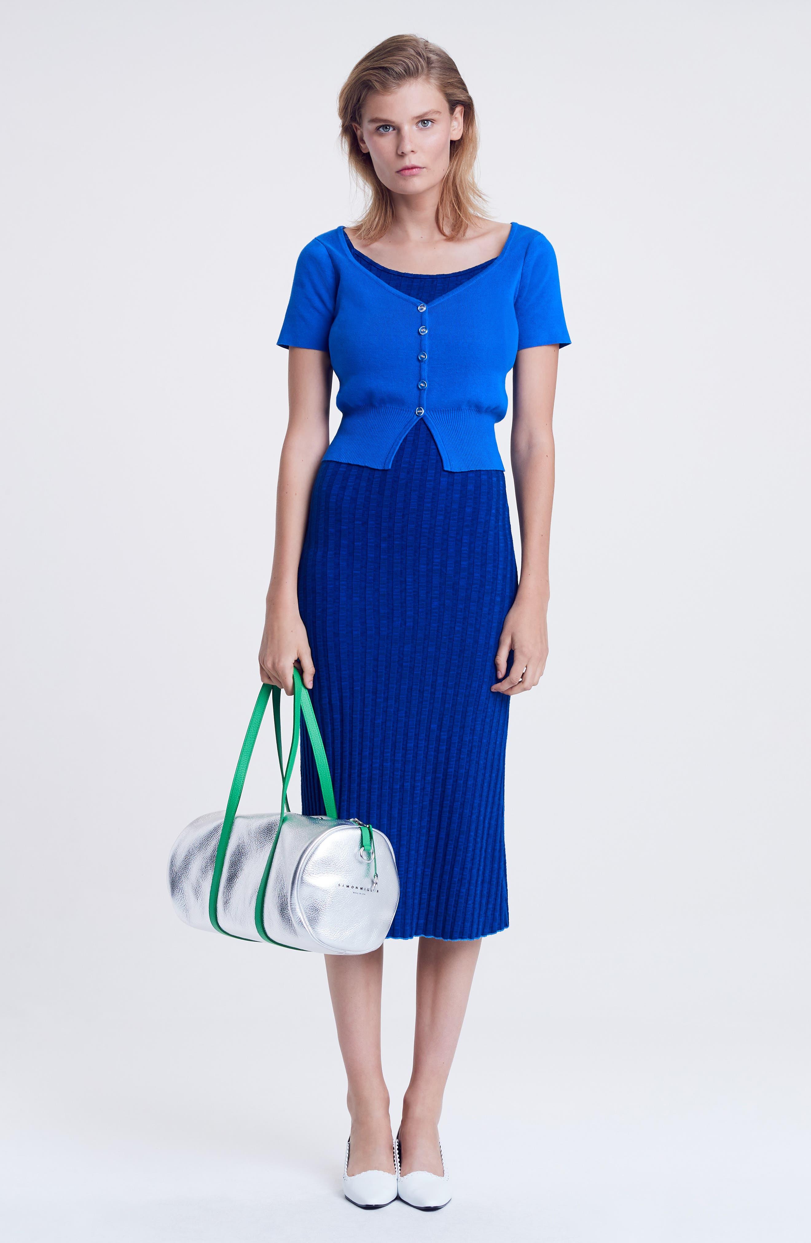 ,                             Matomi Rib Dress,                             Alternate thumbnail 7, color,                             ELECTRIC BLUE