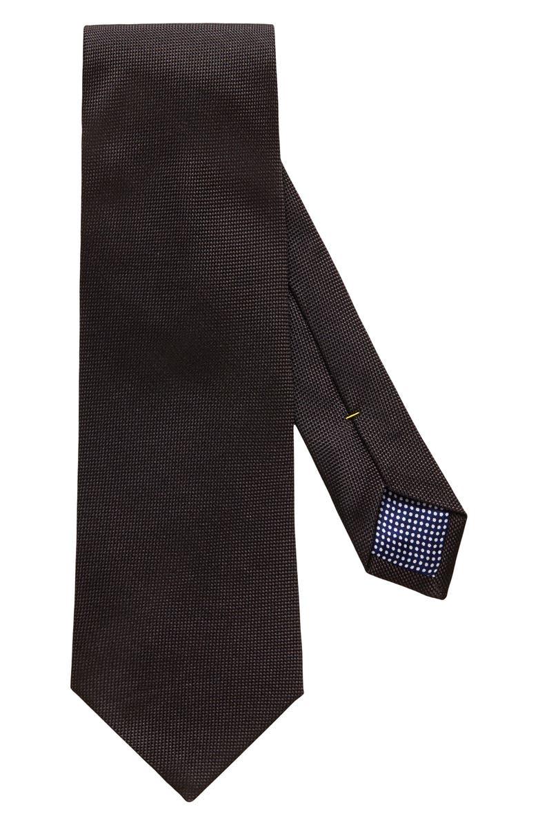 ETON Silk Tie, Main, color, BLACK