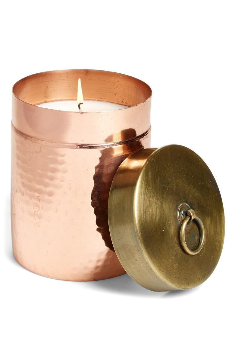 FOUND GOODS MARKET 'Homestead' Hammered Canister Candle, Main, color, 220