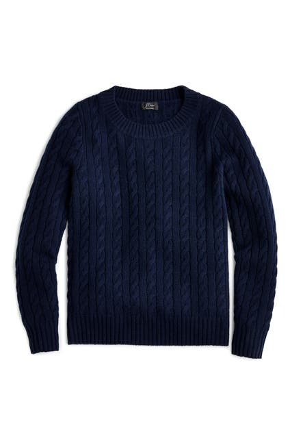 Image of J. Crew Everyday Cashmere Cable Crewneck Sweater