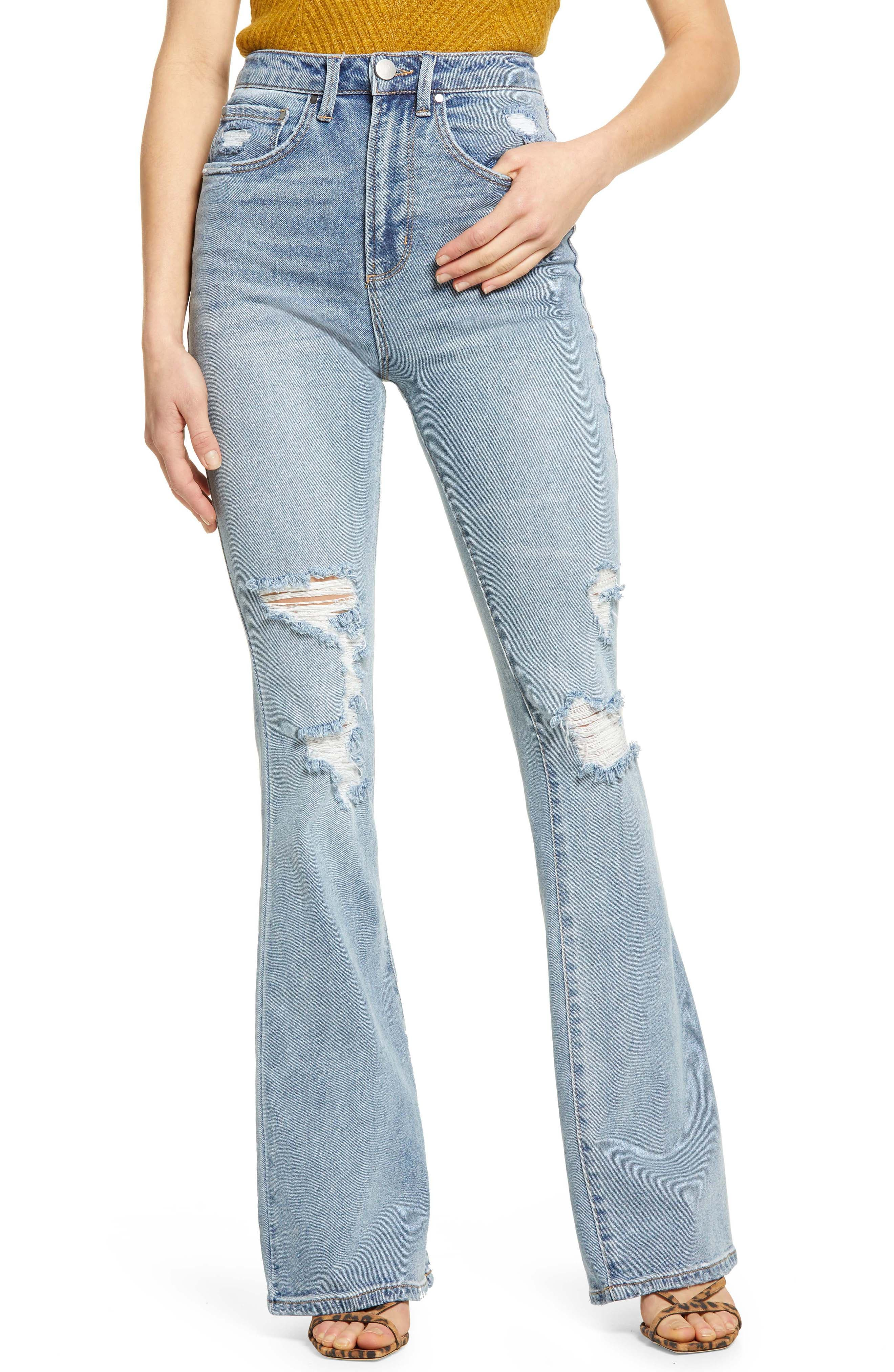 Women's AFRM Kayne Distressed Flare Jeans