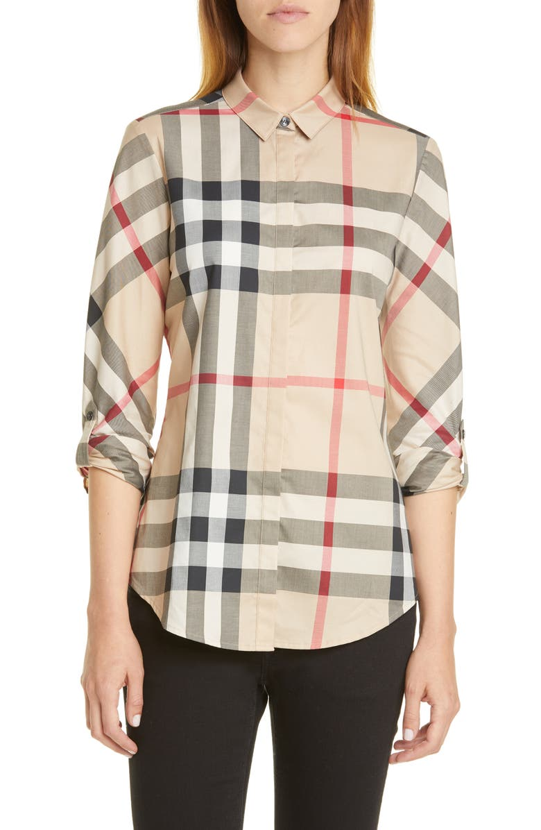 BURBERRY Check Shirt, Main, color, NEW CLASSIC IP CHECK