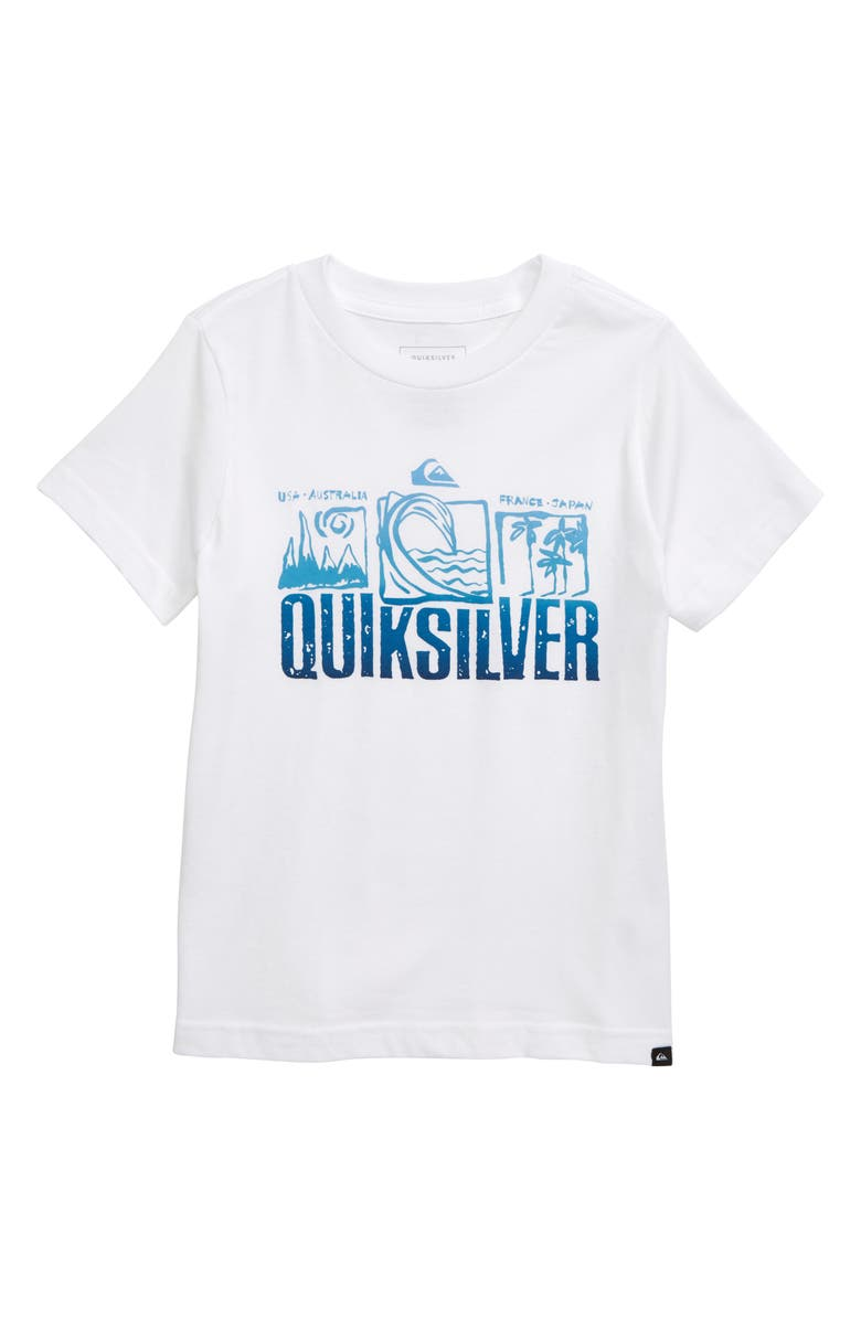 QUIKSILVER Triple Up Graphic T-Shirt, Main, color, WHITE