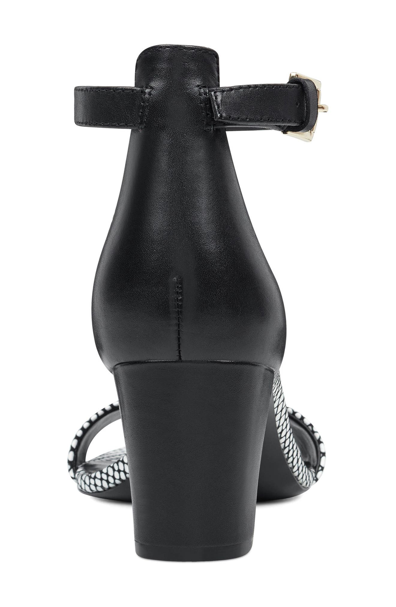 ,                             Pruce Ankle Strap Sandal,                             Alternate thumbnail 7, color,                             BLACK/ WHITE LEATHER