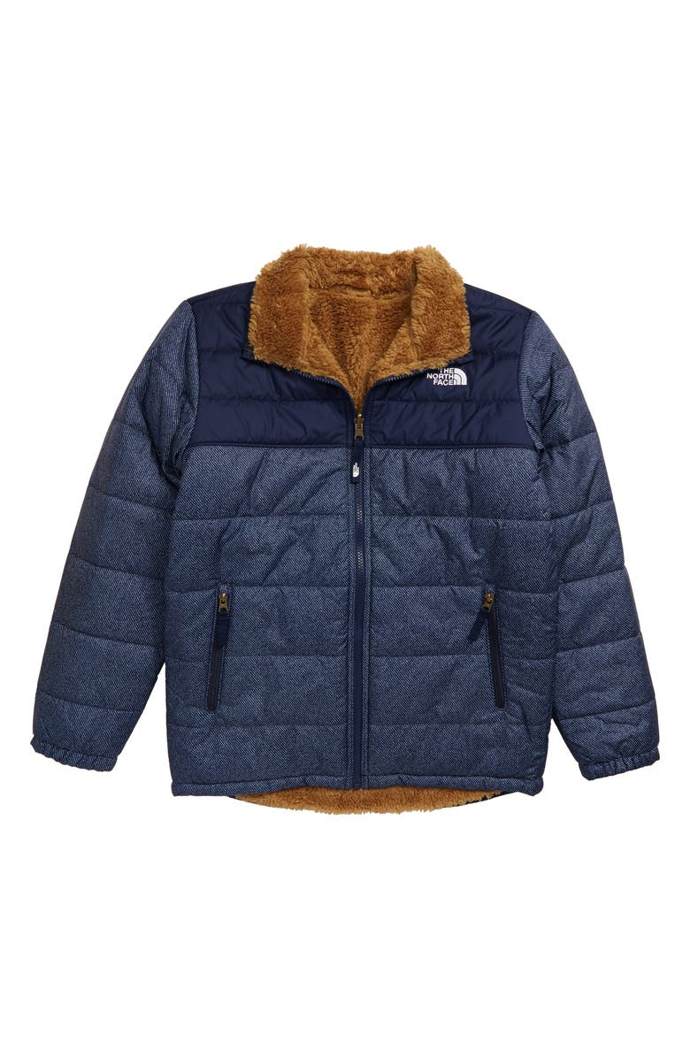 THE NORTH FACE Mount Chimborazo Reversible Jacket, Main, color, MONTAGUE BLUE DENIM PRINT