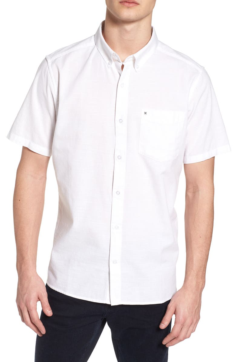 HURLEY One & Only 2.0 Woven Shirt, Main, color, WHITE