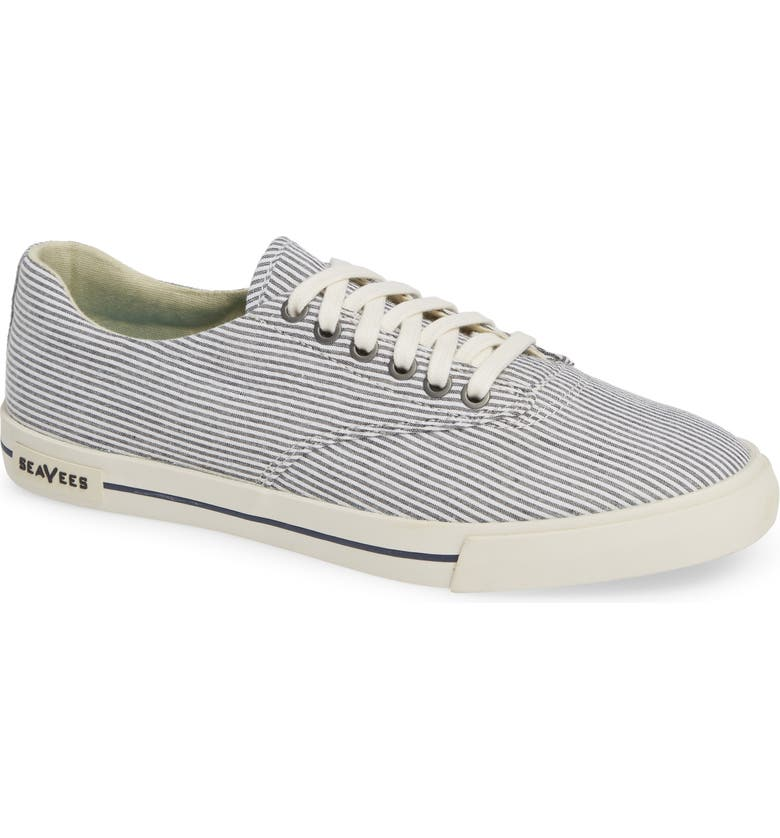 SEAVEES Hermosa Plimsoll Sneaker, Main, color, MIDNIGHT STRIPE FABRIC