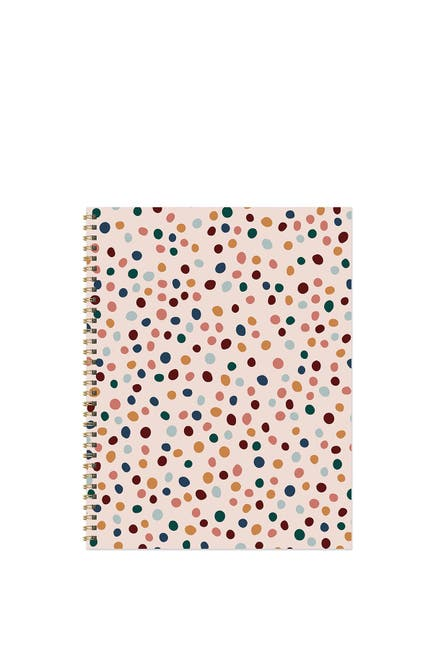 Image of TF Publishing Spotted Dot Boho Undated Large Weekly Monthly Spiral Planner
