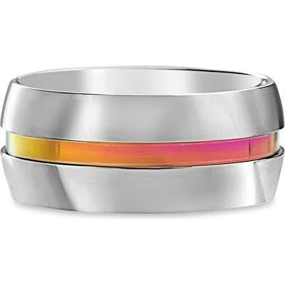Steve Madden Rainbow Center Ring