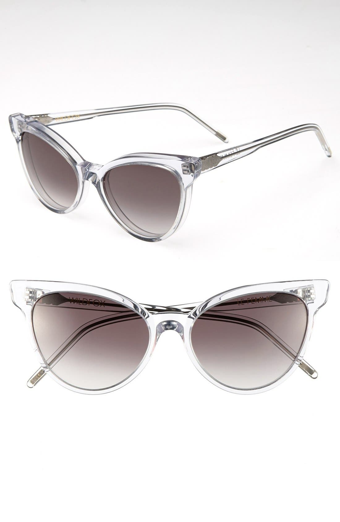 ,                             'La Femme' 55mm Sunglasses,                             Main thumbnail 18, color,                             900