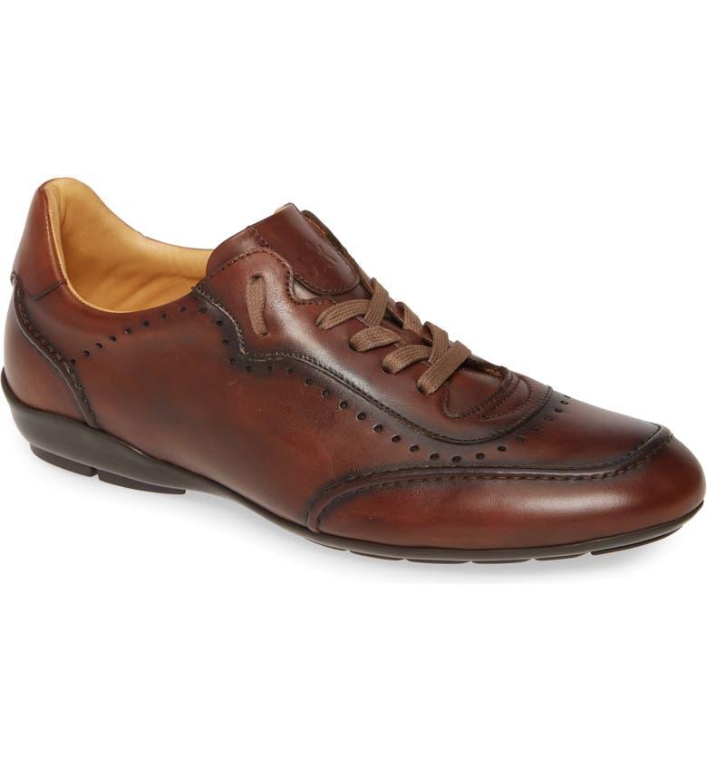 MEZLAN Tivoli Sneaker, Main, color, COGNAC LEATHER