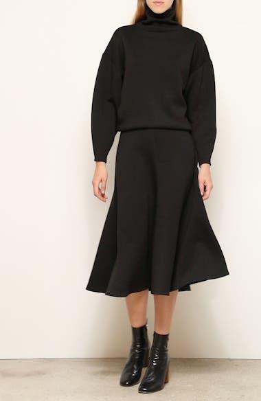 Curie Neoprene Midi Skirt, video thumbnail