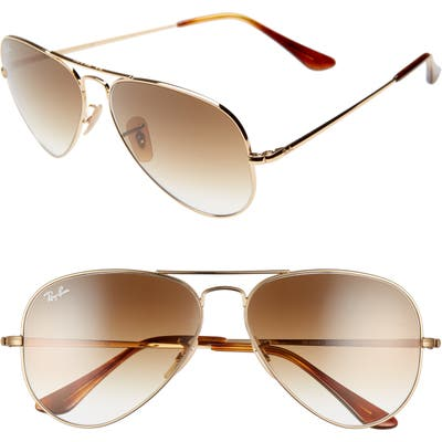 Ray-Ban 5m Aviator Sunglasses - Gold/ Brown Gradient