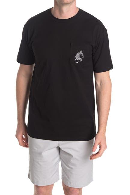 Image of VANS x Kyle Walke Black Crewneck Pocket T-Shirt