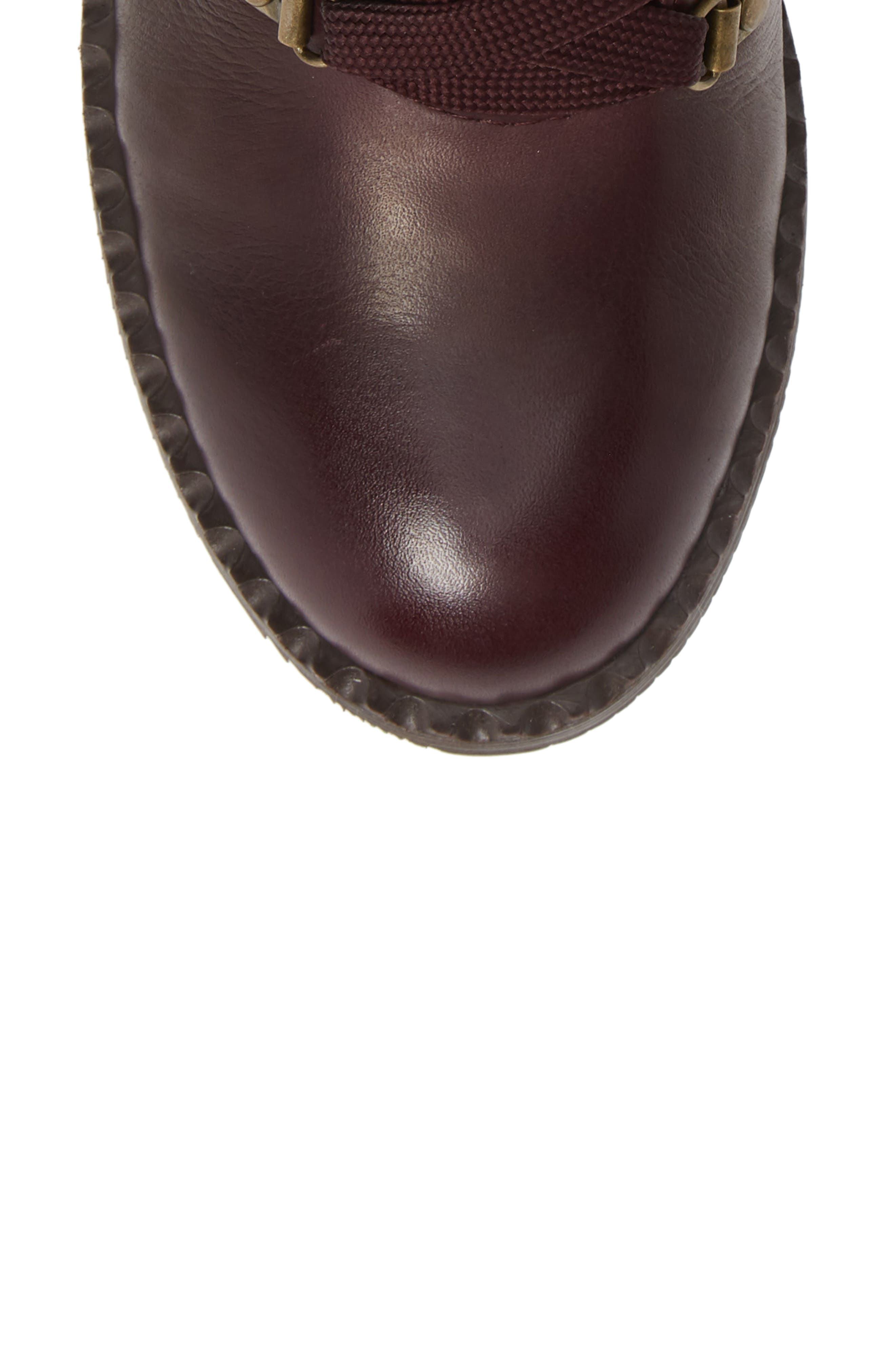 ,                             Brooklyn Combat Boot,                             Alternate thumbnail 5, color,                             OXBLOOD LEATHER