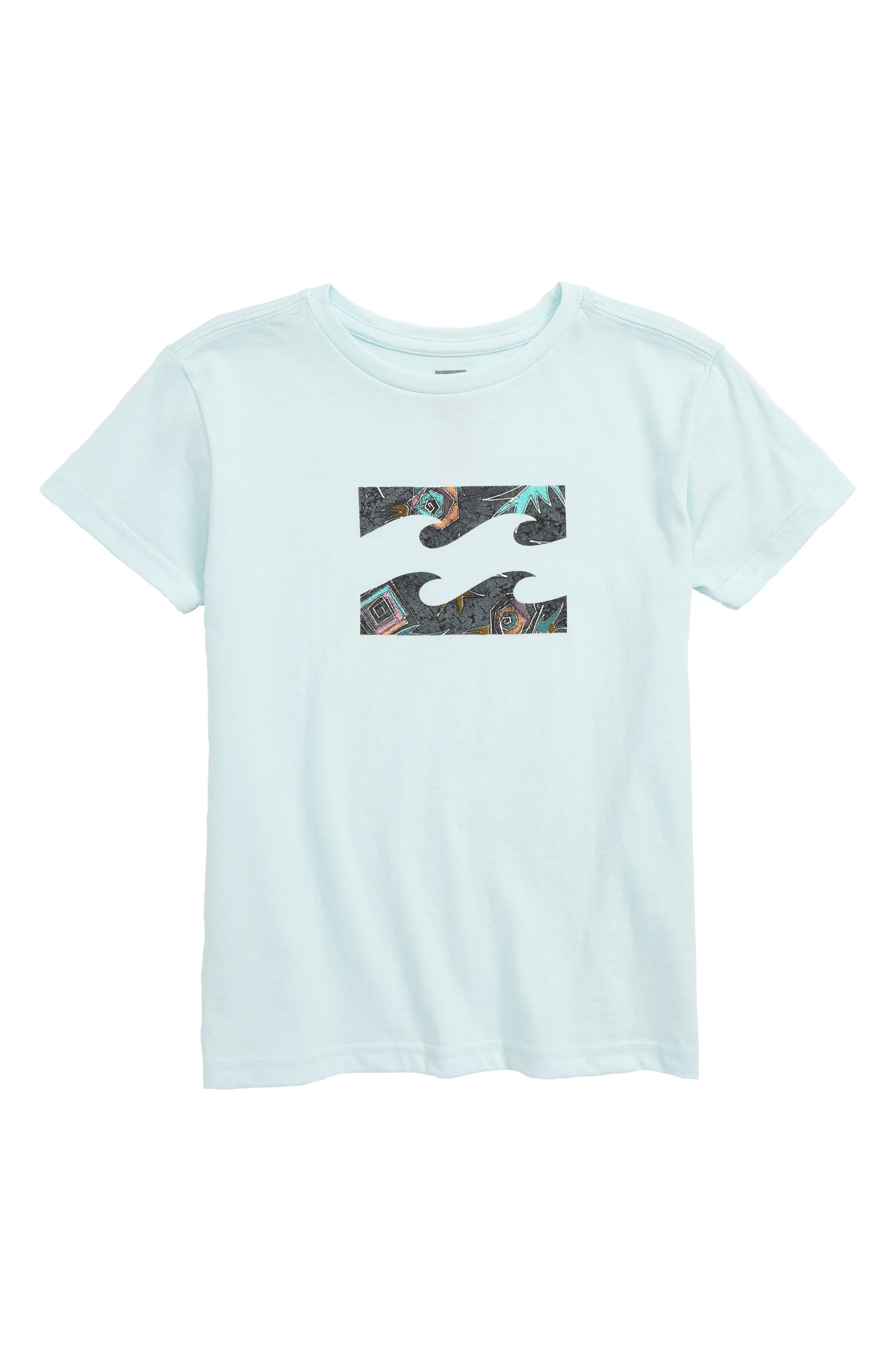 Team Wave Logo Graphic T-Shirt, Main, color, SKY