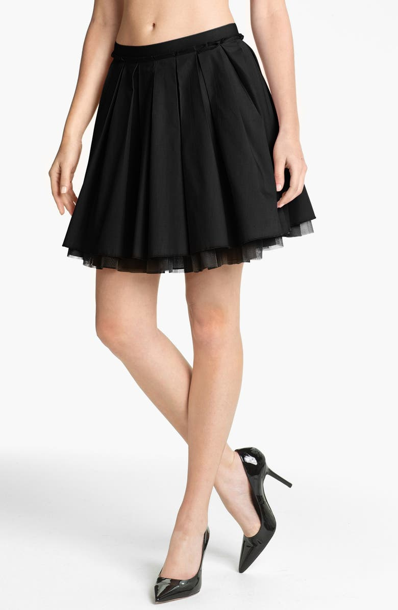 REMAIN Crinoline Pleated Skirt, Main, color, 001