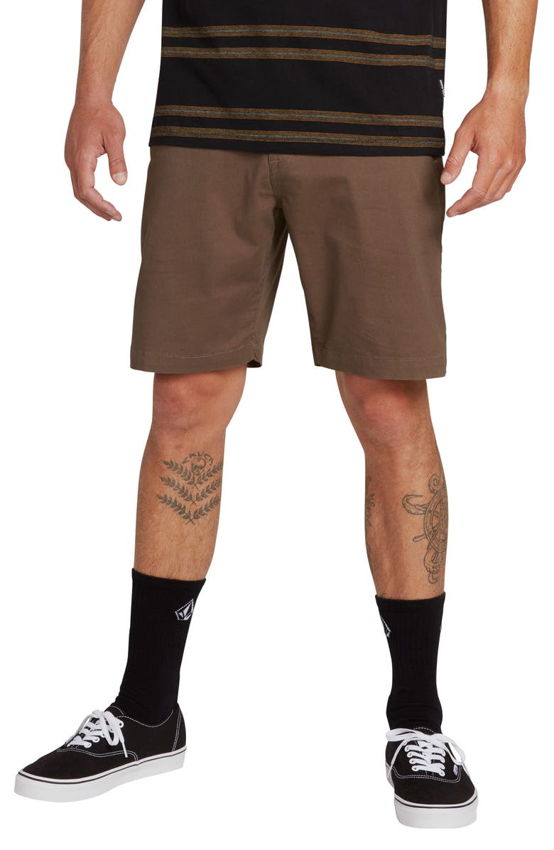 VOLCOM Lightweight Shorts, Main, color, MAJOR BROWN