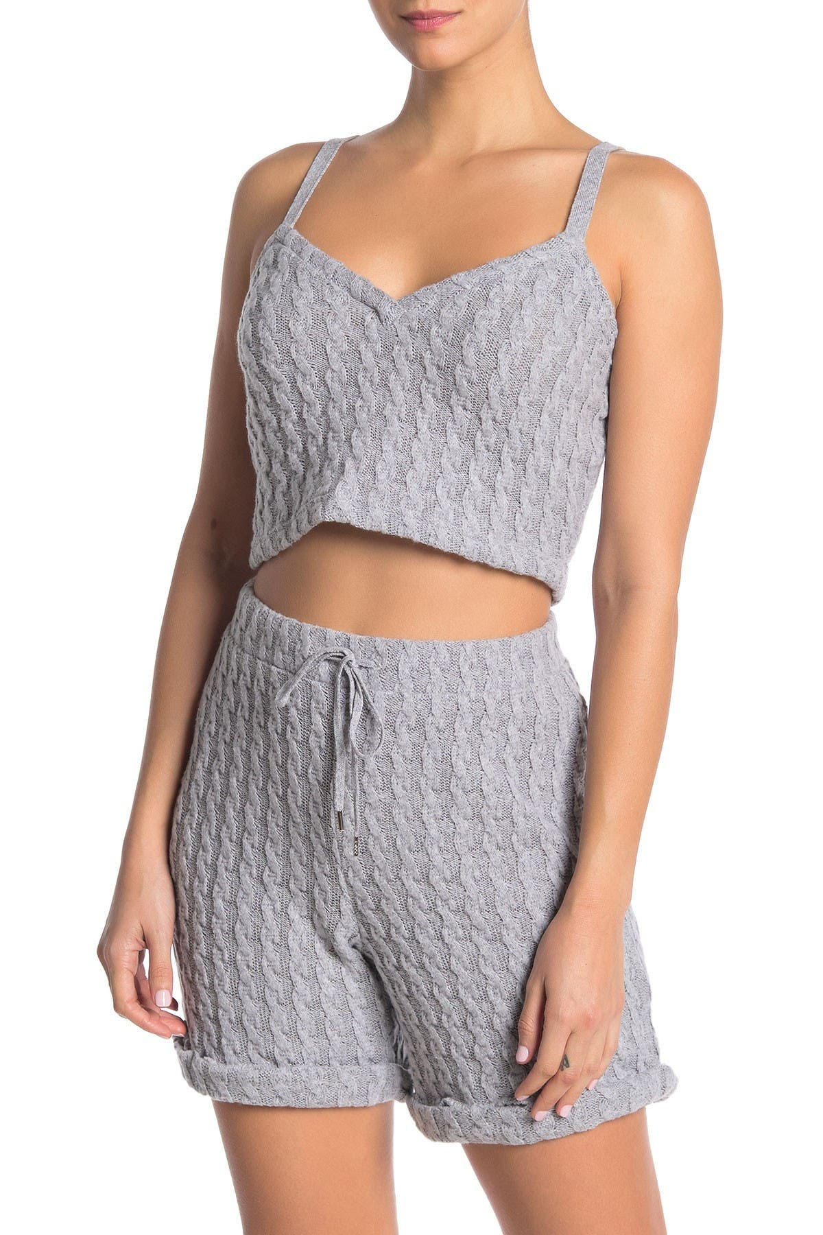 Image of Cosabella Jasmin Crop Cable Knit Top