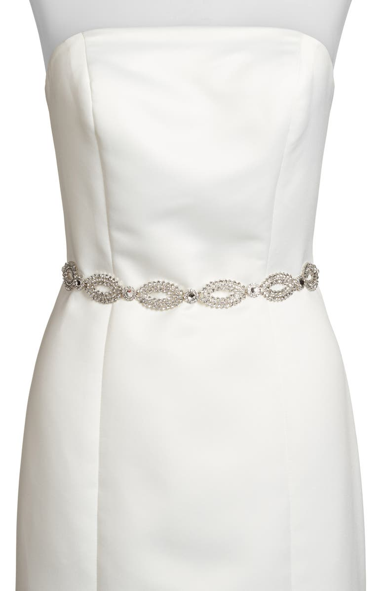 KATE SPADE NEW YORK fish eye crystal bridal belt, Main, color, 044
