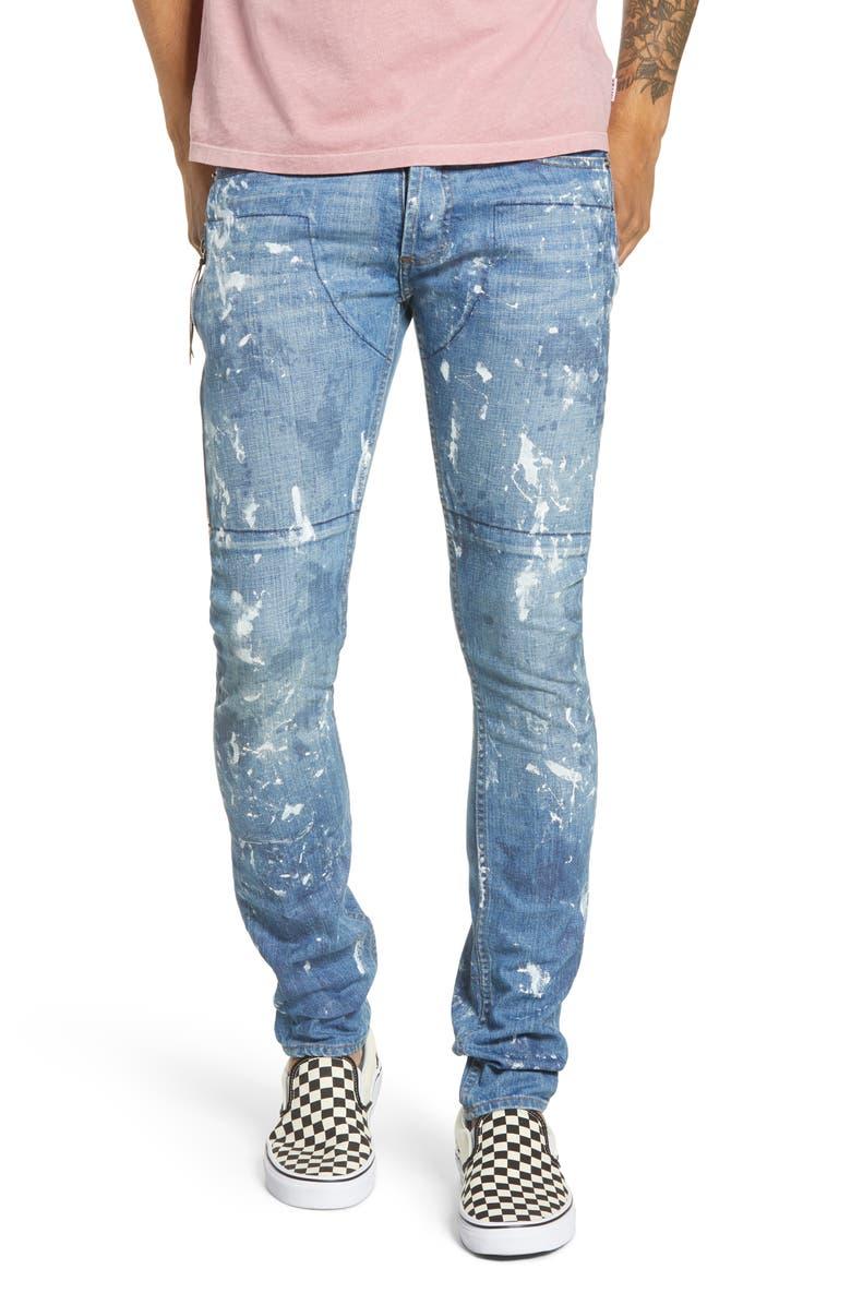MRCLA Trafford Slim Straight Leg Jeans, Main, color, PAINTER
