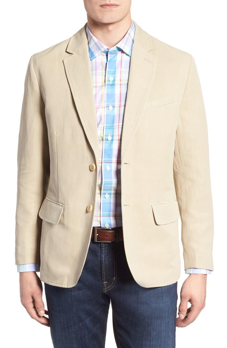 TOMMY BAHAMA Monterey Silk & Linen Blazer, Main, color, 201