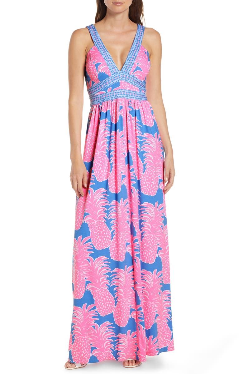 05ee636621 Taryn Print Maxi Dress, Main, color, BLUE HAVEN FLAMENCO