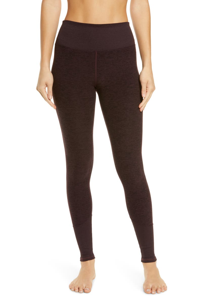 ALO High Waist Lounge Leggings, Main, color, OX BLOOD HEATHER