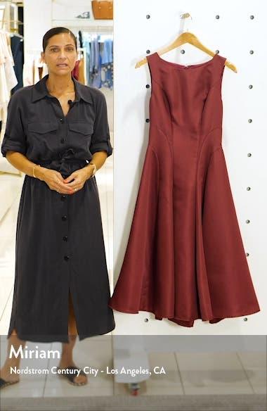 Bracken Satin Fit & Flare Cocktail Dress, sales video thumbnail