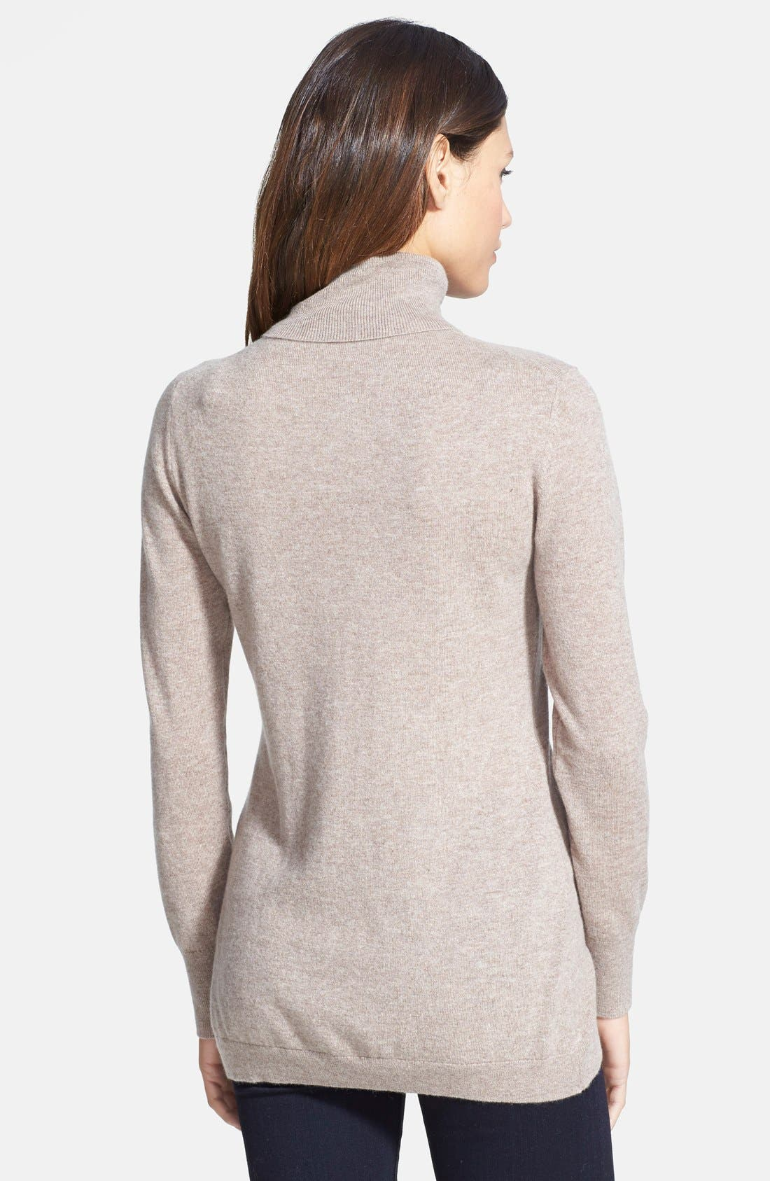 ,                             Long Cashmere Turtleneck Sweater,                             Alternate thumbnail 16, color,                             238
