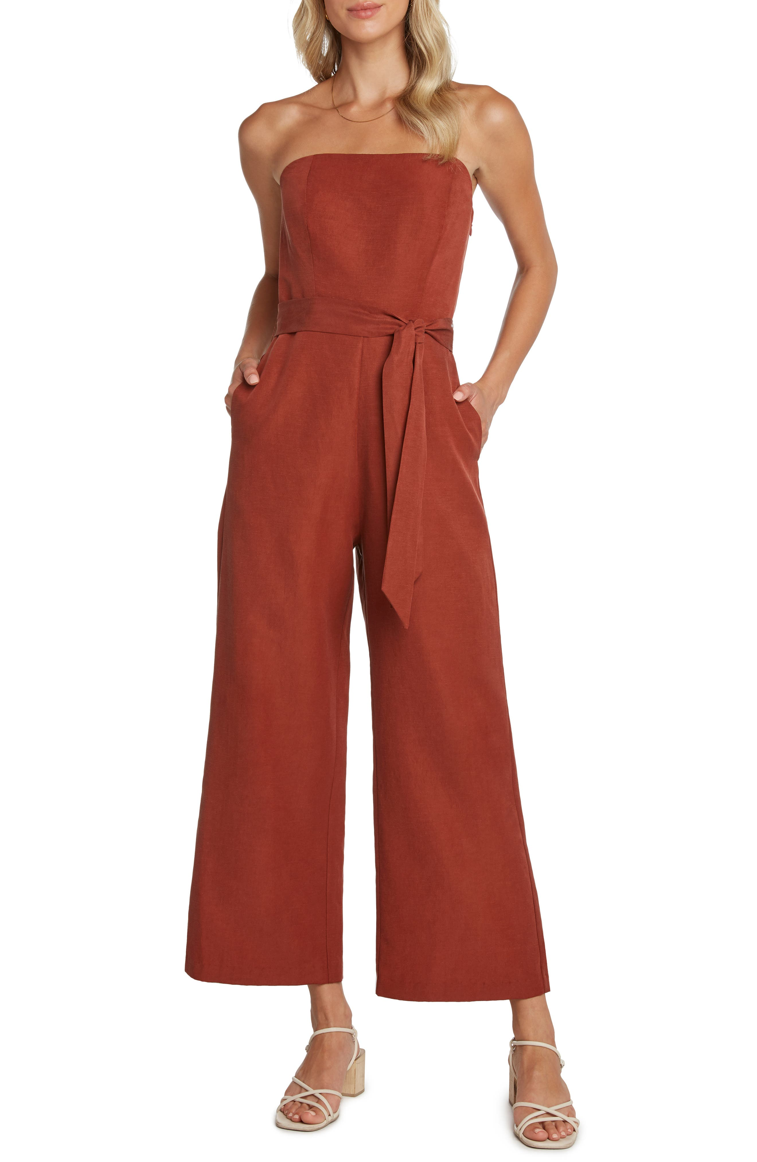 Willow Ryan Strapless Wide Leg Jumpsuit