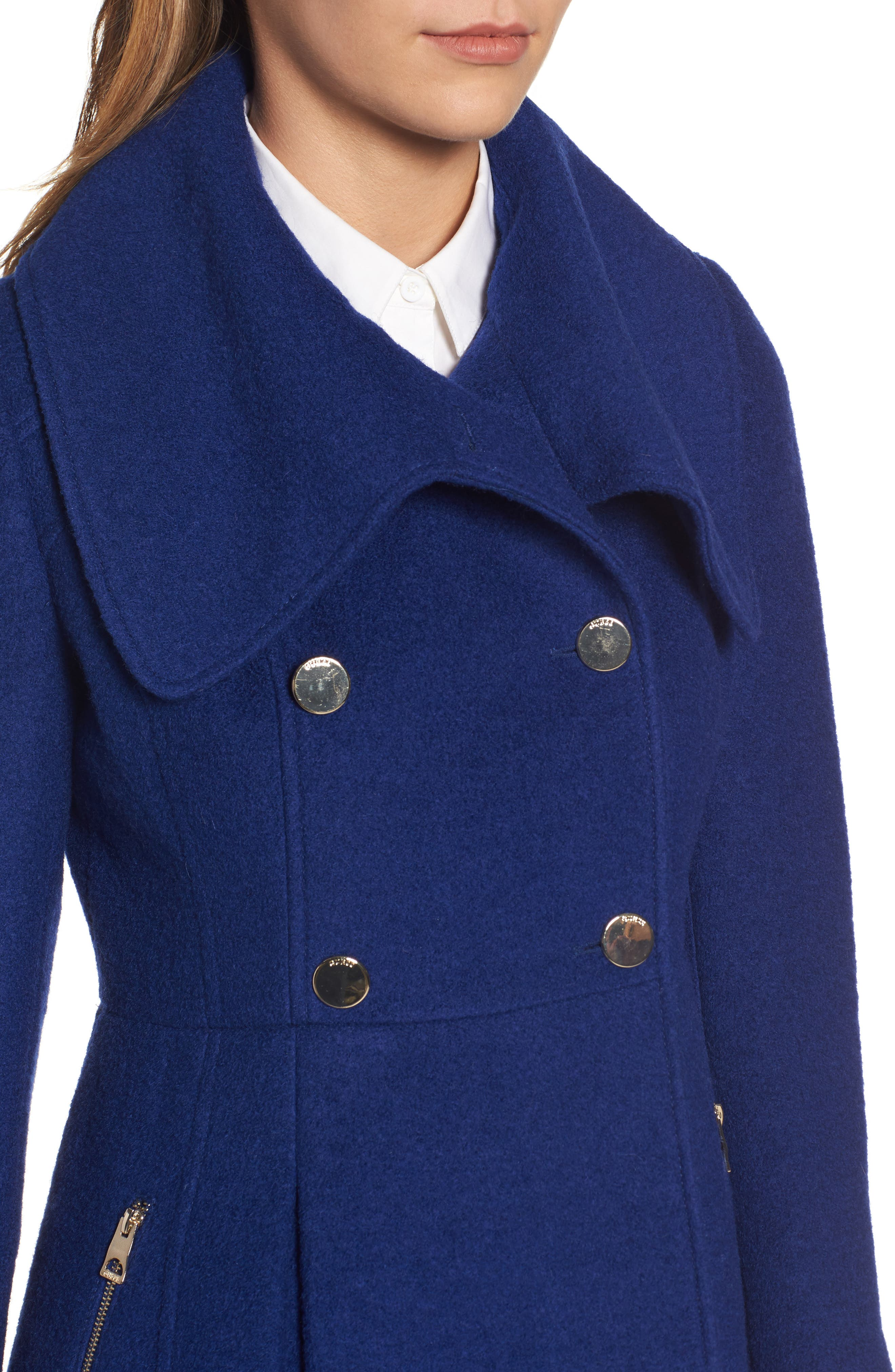 ,                             Envelope Collar Double Breasted Coat,                             Alternate thumbnail 14, color,                             433