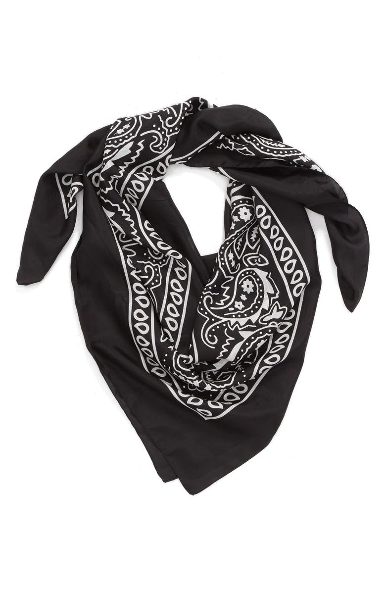 LULLA COLLECTION BY BINDYA 'Bandana' Silk Scarf, Main, color, 001