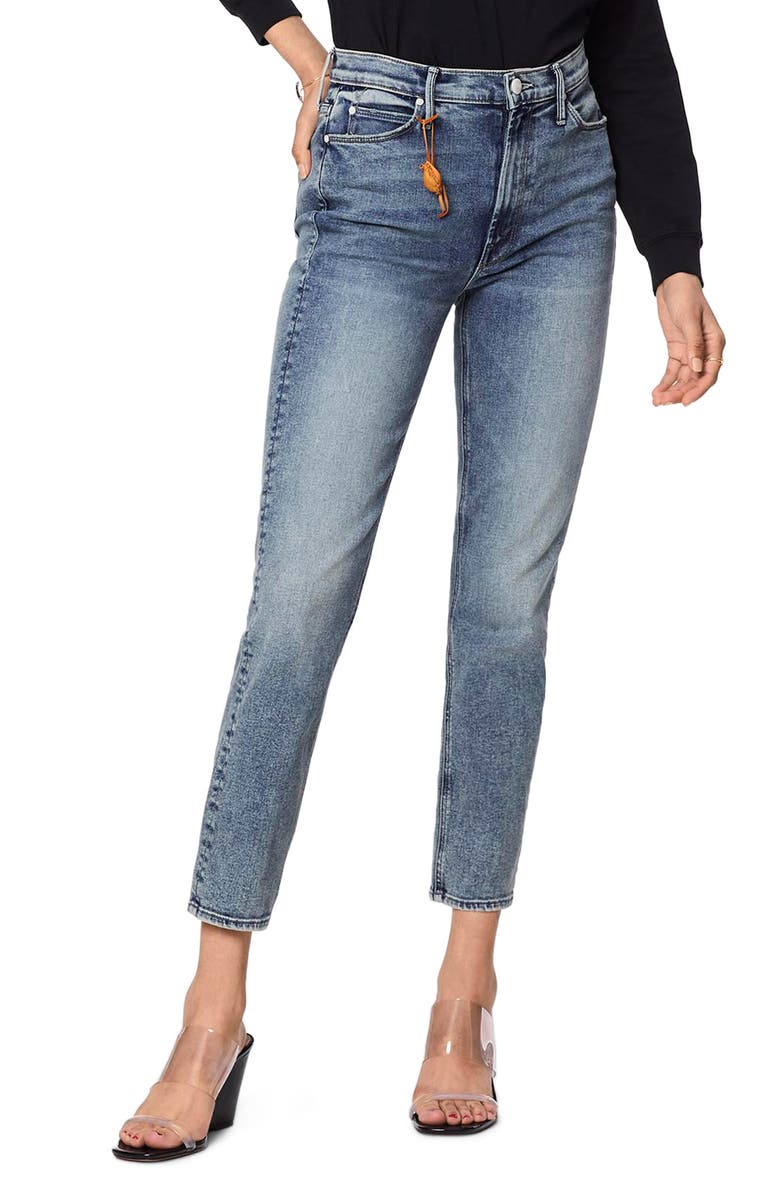 The Dazzler High Waist Ankle Straight Leg Jeans by Mother