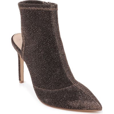 Jewel Badgley Mischka Sondra Pointy Toe Bootie- Brown