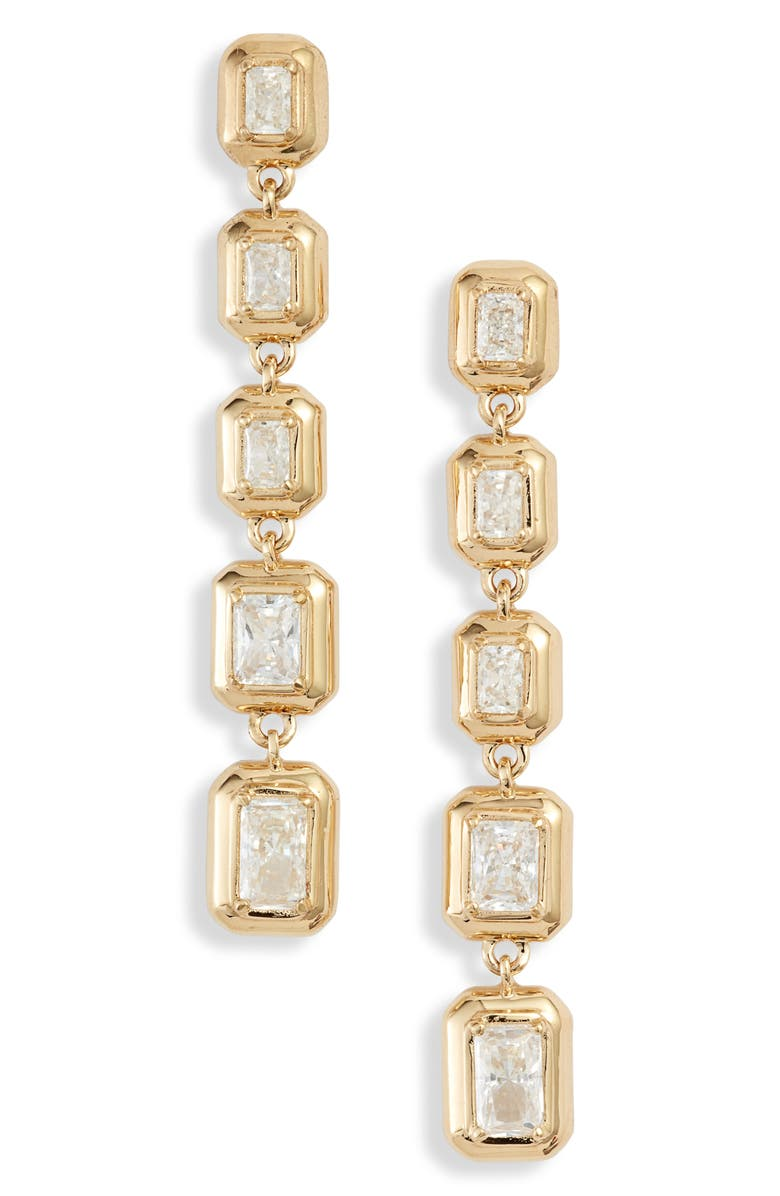NADRI Mila Linear Earrings, Main, color, GOLD