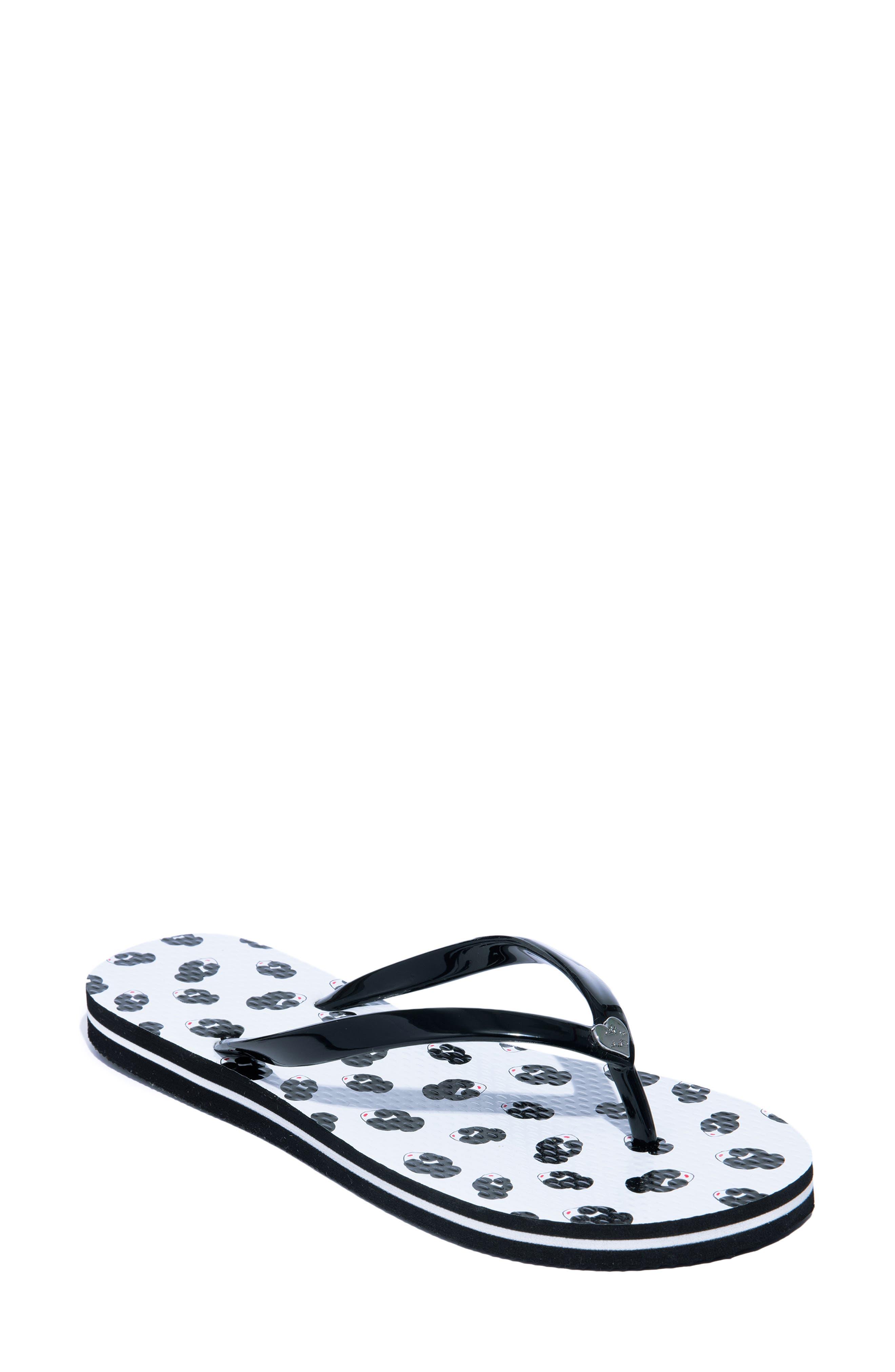 Eva Flip-Flop, Main, color, WHITE/ BLACK