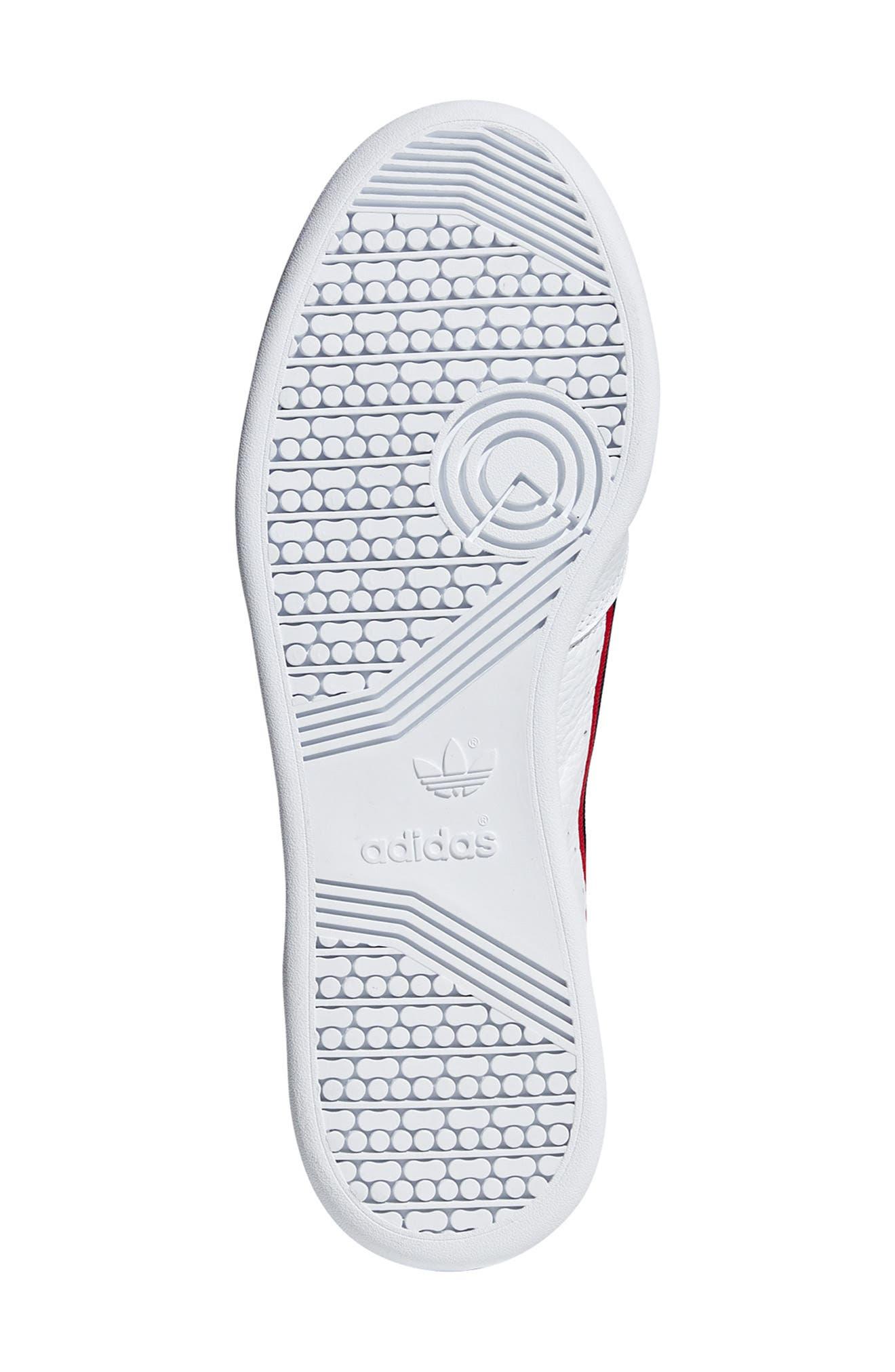 ,                             Continental 80 Sneaker,                             Alternate thumbnail 5, color,                             WHITE/ SCARLET