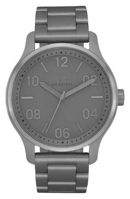 Image of Nixon Men's Patrol Stainless Steel Bracelet Watch, 42mm