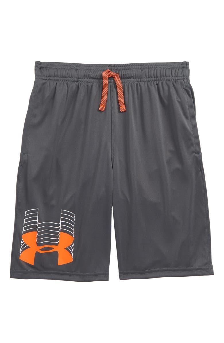 UNDER ARMOUR Prototype Logo Shorts, Main, color, 024